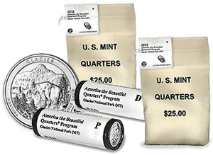 Glacier National Park Quarter Bags and Rolls