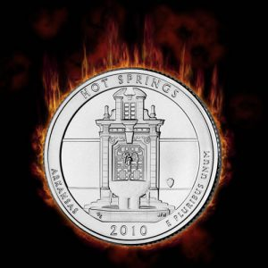 Hot Springs 5 Oz Silver Uncirculated Coin