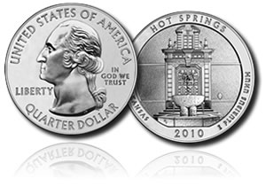 Hot Springs 5 oz Silver Coin