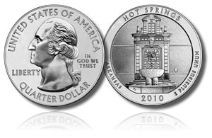 Hot Springs Uncirculated Coin