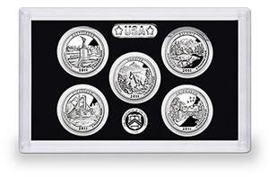 US Mint 2011 America the Beautiful Quarters Silver Proof Set