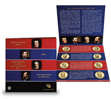 US Mint 2011 Presidential $1 Coin Uncirculated Set