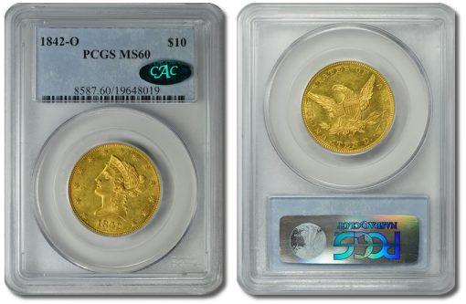 1842-O $10 Gold Eagle