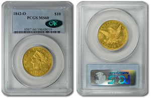1842-O $10 Gold Eagle Coin