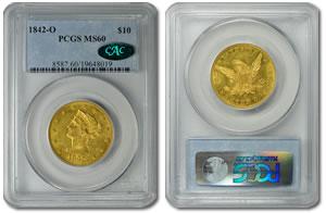 1842-O $10 Gold Eagle Coin