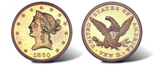 1860 $10 Liberty Eagle