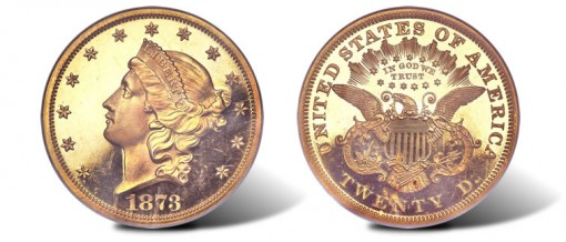 1873 Liberty $20 Double Eagle