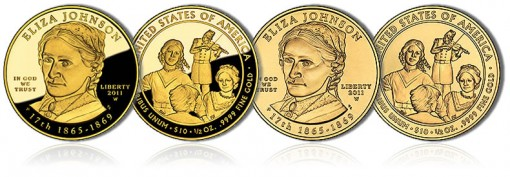 2011 Eliza Johnson First Spouse Gold Coins