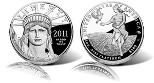 2011 Proof American Platinum Eagle Coin