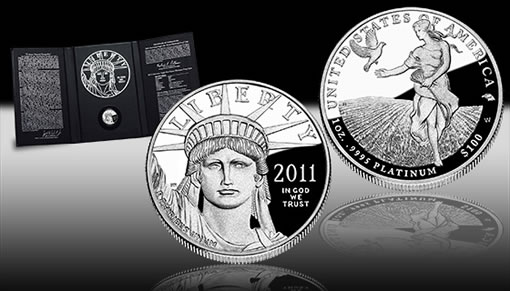 2011 Proof American Platinum Eagle Promotion Image
