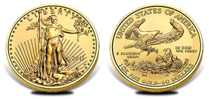 2011 Uncirculated American Gold Eagle Coin
