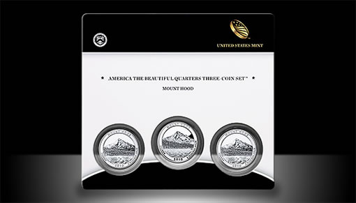 Mount Hood Quarter Three-Coin Set