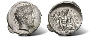 Silver Tetradrachm of Naxos in Sicily