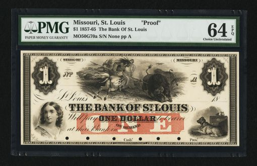 The Bank of St. Louis $1 G70a Proof
