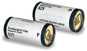 Ulysses S. Grant Presidential Dollar Rolls