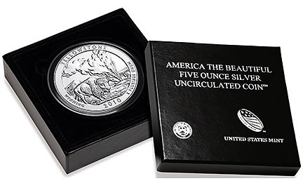 Yellowstone National Park 5 Oz Silver Uncirculated Coin