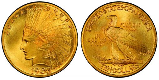 1908 motto $10