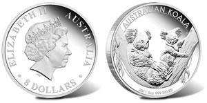 2011 Australian Koala 5 Ounce Silver Coin