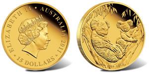 2011 Australian Koala 5 Ounce Silver Proof Coin