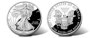 2011 Proof American Silver Eagle Coin