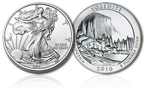 American Silver Eagle, Yosemite 5  Oz Silver Coin