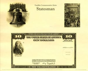 Franklin Commemorative Series Statesman Intaglio Print