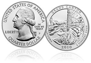 Grand Canyon National Park Five Ounce Silver Uncirculated Coin