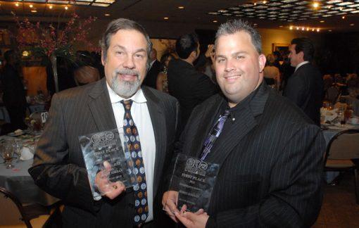 Michael Fuljenz & Jerry Jordan with awards