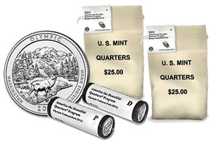Olympic National Park Quarter, Bags and Rolls