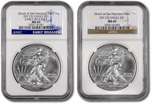 San Francisco Mint Silver Eagle NGC Labels