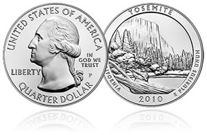 Yosemite National Park 5 Oz Silver Uncirculated Coin