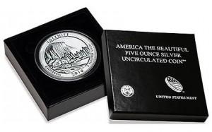 Yosemite National Park 5 Oz Silver Uncirculated Coin
