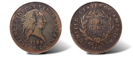 1792 Fusible Alloy Cent
