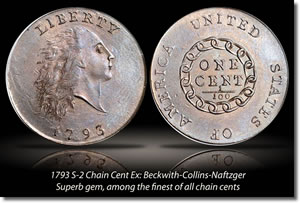1793 Chain Cent Coin