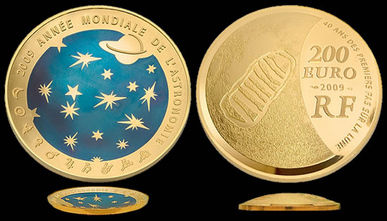 2009 International Year of Astronomy gold coin