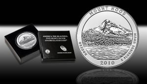 2010-P Mount Hood 5 Ounce Silver Uncirculated Coin