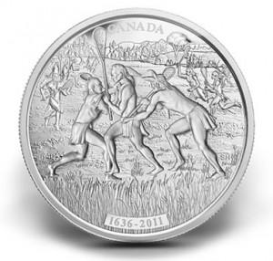 2011 $250 Anniversary of Lacrosse Kilo Silver Coin