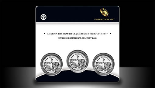 Gettysburg Quarter Three-Coin Set