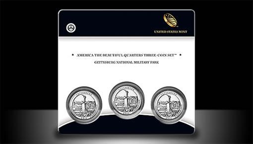 Gettysburg Quarter Three-Coin Set