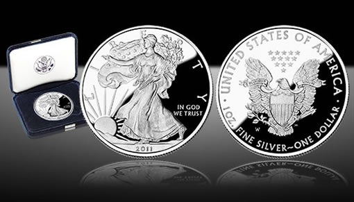United States Mint Image of the 2011 Proof American Silver Eagle