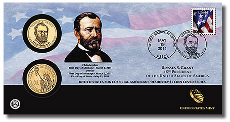 Ulysses S. Grant Presidential $1 Dollar Coin Cover