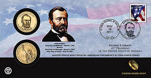 Ulysses S. Grant Presidential Dollar Coin Cover