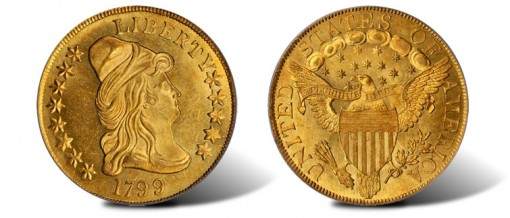 1799 Capped Bust Right eagle