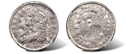 1814 E50C Platinum Half Dollar