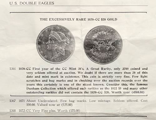 1870-CC Double Eagle description