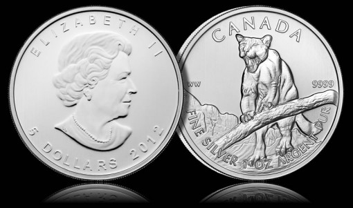 2012 Canadian Cougar Silver Bullion Coin