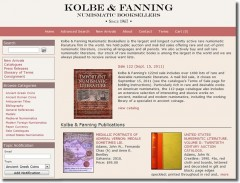 New Website of Kolbe & Fanning Numismatic Booksellers