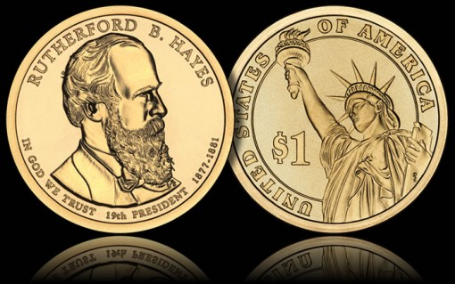 2011 Rutherford B Hayes Presidential 1 Coin Released
