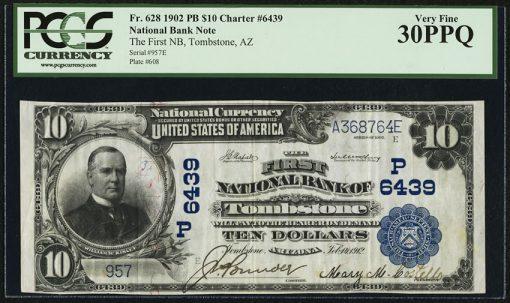Tombstone, AZ - $10 1902 Plain Back Fr. 628