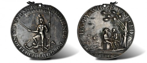 1780 Virginia Happy While United Medal
